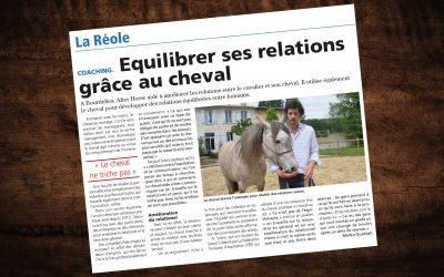 «Équilibrer ses relations grâce au cheval» – Article Le Républicain
